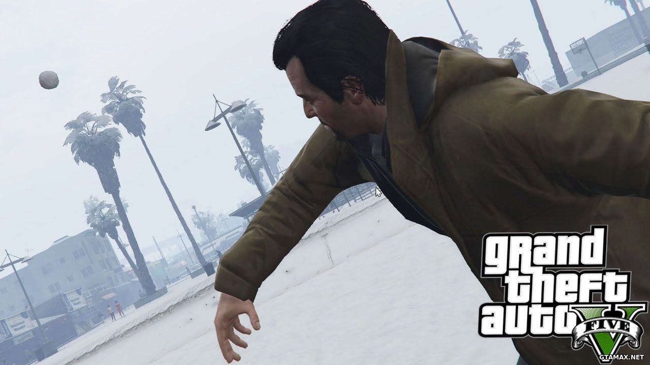 Скачать Snowballs in Singleplayer для GTA 5