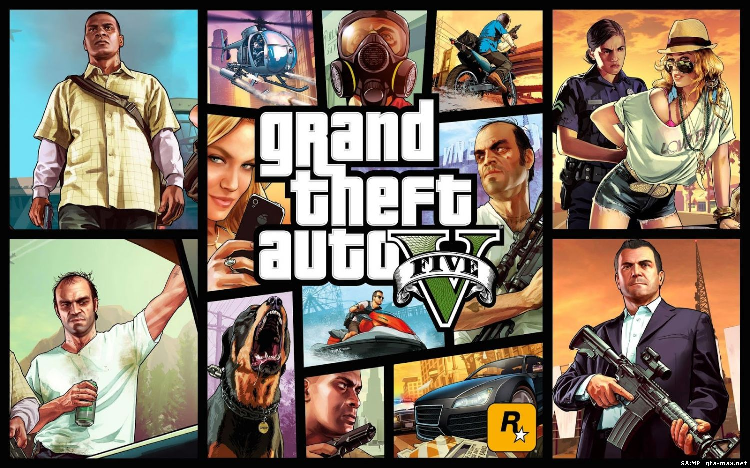 Скачать GTA 5 / Grand Theft Auto V (2015) [Ru/Multi] (1.0.350.2/u5) Repack R.G. Games