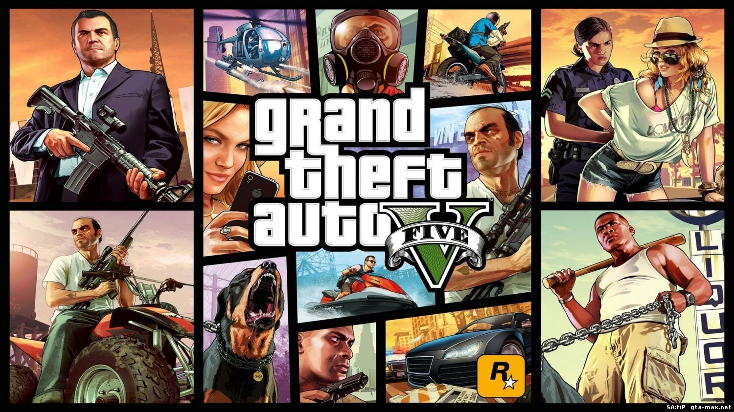 Скачать GTA 5 / Grand Theft Auto V (2015) RePack от FitGirl
